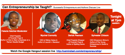 Join me live tonight for an Epic discussion about Entrepreneurship!
